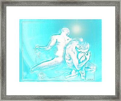 Feeling Blue Together  Framed Print by Yvon van der Wijk
