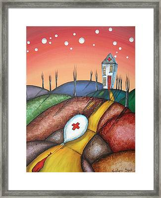Feeling Deflated Framed Print