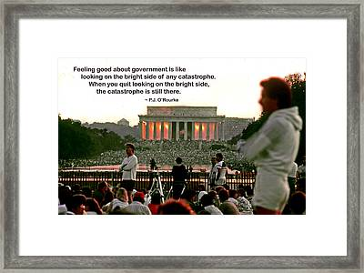Feeling Good About Government Framed Print by Mike Flynn