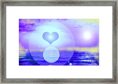 Feeling Heart Framed Print