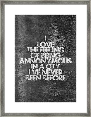 Feeling Quotes Poster Framed Print by Lab No 4 - The Quotography Department