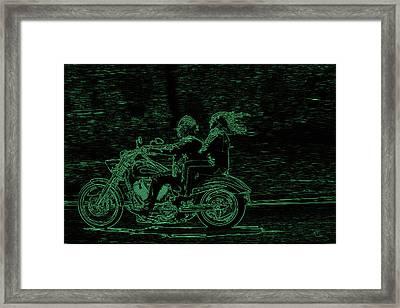 Feeling The Ride Framed Print by Karol Livote