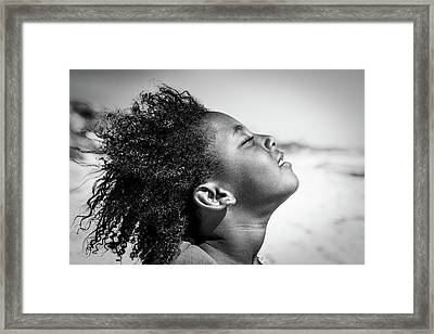 Feeling The Sun And Wind Framed Print