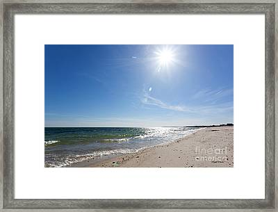 Feeling The Warmth Of Hope And Happiness Framed Print
