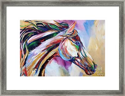 Feeling The Wind Framed Print by Cher Devereaux