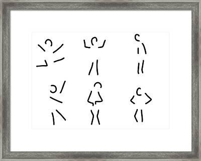 Feelings Emotions Gestures Framed Print