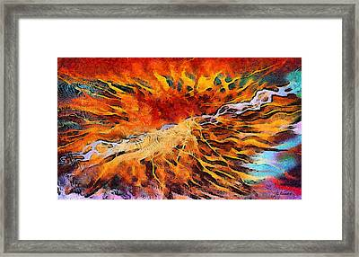 Feelings Eruption Framed Print