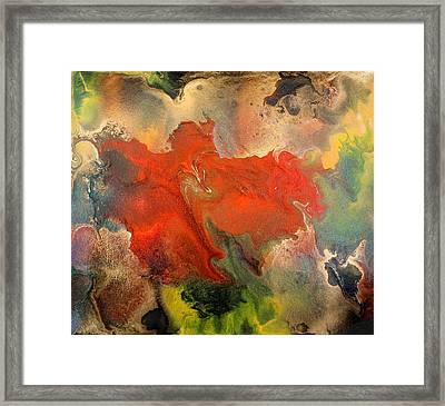 Feelings Eruption Framed Print by Julia Fine Art And Photography