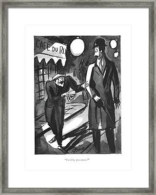 Feelthy Peectures? Framed Print by Peter Arno