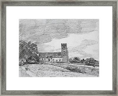 Feering Church, 1814 Framed Print by John Constable