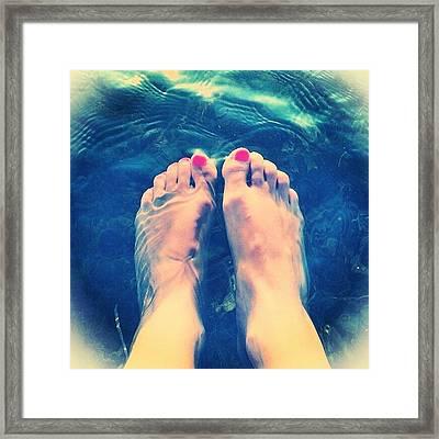 Feet! Framed Print