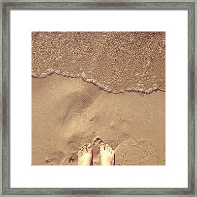 Feet On The Beach Framed Print