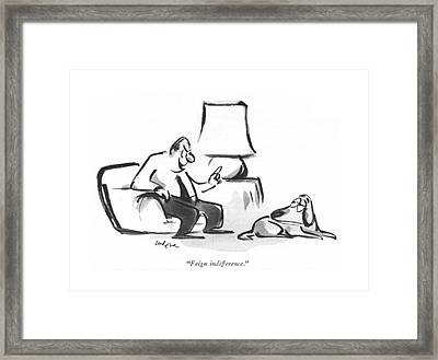 Feign Indifference Framed Print by Lee Lorenz