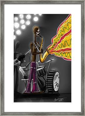 Fela Afrobeat Kuti Framed Print