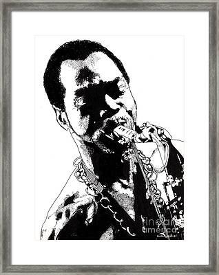 Fela Kuti Framed Print by Nancy Mergybrower