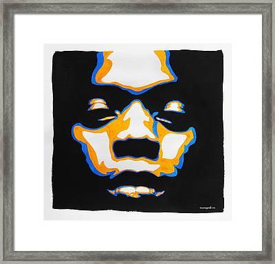 Fela. The First Black President. Framed Print