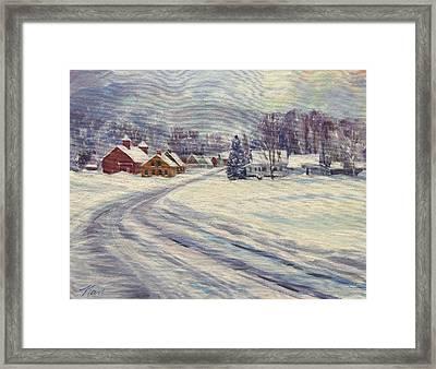 Felchville Village In The Snow Framed Print