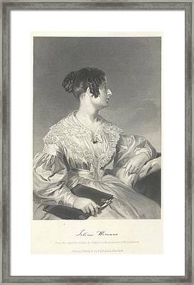Felicia Dorothea Hemans Framed Print by British Library