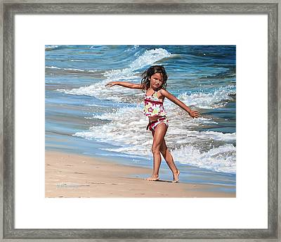 Framed Print featuring the painting Felicity by Rick McKinney
