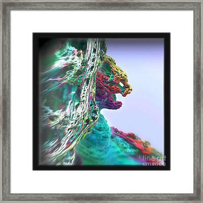Feline Cliff Face Framed Print by Kevin Martin