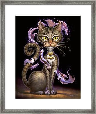 Feline Fantasy Framed Print
