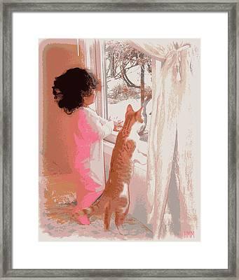 Feline Friend Framed Print by Heidi Manly