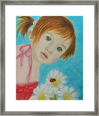 Felisa Little Angel Of Happiness And Luck Framed Print by The Art With A Heart By Charlotte Phillips