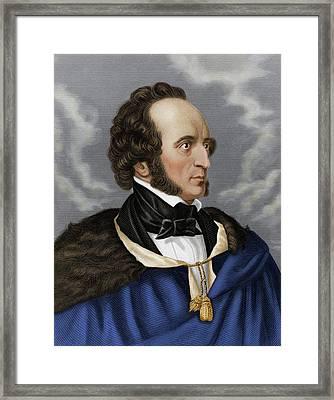 Felix Mendelssohn Framed Print by Maria Platt-evans