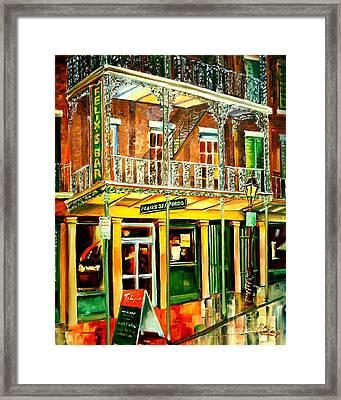 Felixs Oyster Bar Framed Print