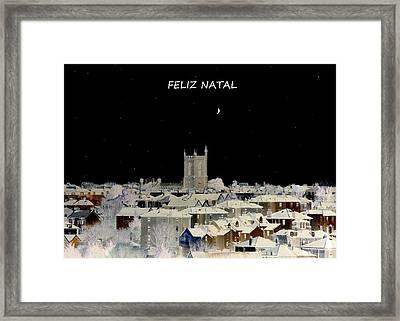 Feliz Natal Christmas Card Framed Print