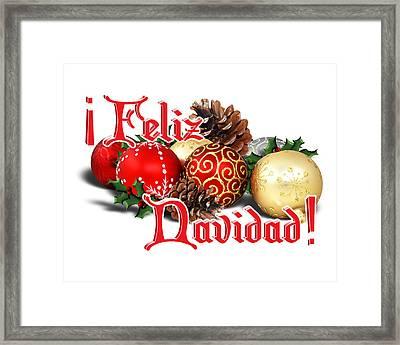 Feliz Navidad - Ornaments Framed Print