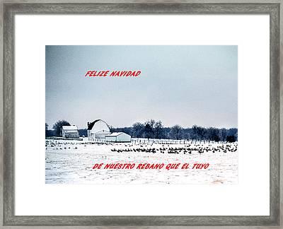 Felize Navidad Framed Print by Skip Willits