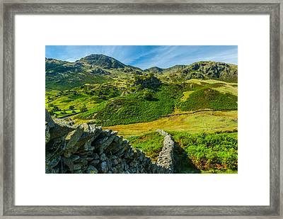 Fell Foot Little Langdale Lake District Framed Print by David Ross