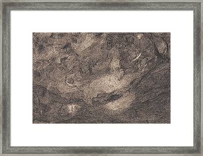 Fell Into A Cosmic Nightmare Framed Print by David Mivshek