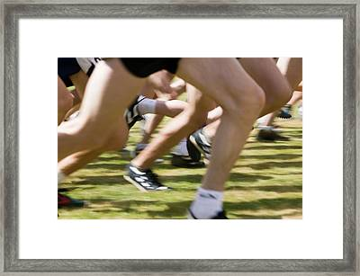 Fell Race At Ambleside Sports Framed Print by Ashley Cooper