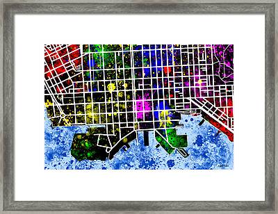 Fells Point Map Framed Print by Stephen Younts