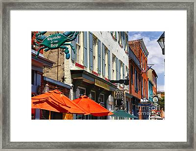 Fells Point Signs Framed Print by George Oze