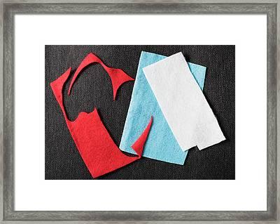 Felt Craft Framed Print