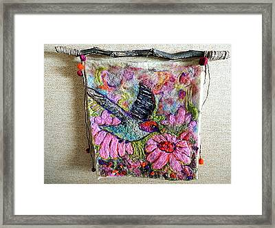 Felted Hummingbird Framed Print