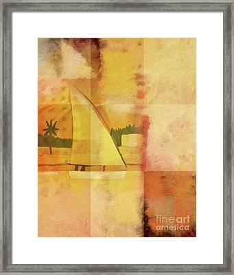 Felucca Impression Framed Print by Lutz Baar