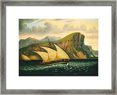 Felucca Off Gibraltar Framed Print