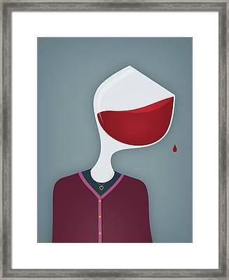 Female Alcoholic Framed Print