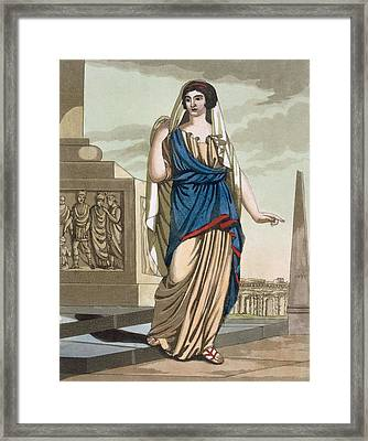 Female Citizen Of Ancient Rome, A Folio Framed Print
