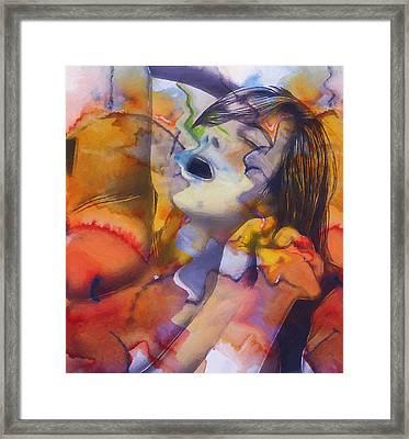 Female Climax Framed Print by Steve K