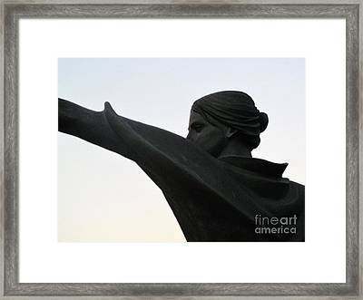 Female Educator Reaching Out Two Framed Print by Tina M Wenger