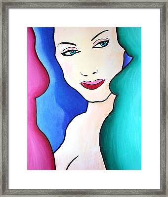 Female Face Shapes And Forms Framed Print by Bob Baker