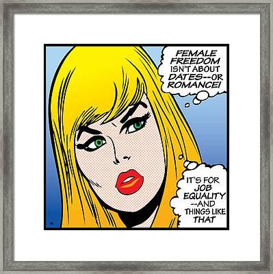 Female Freedom Framed Print