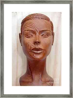 Female Head Bust - Front View Framed Print