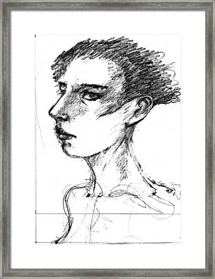 Female Head Framed Print