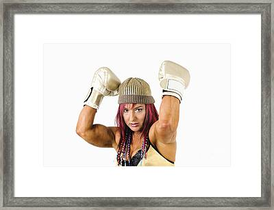 Female Kick Boxer 1 Framed Print
